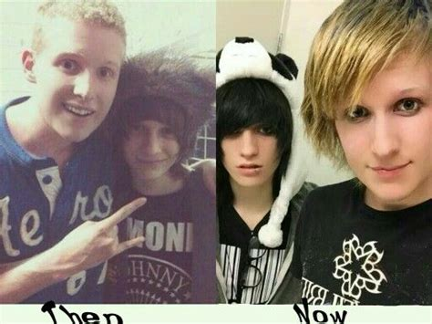before and after emo haircut eyeliner emo and longer hair on pinterest