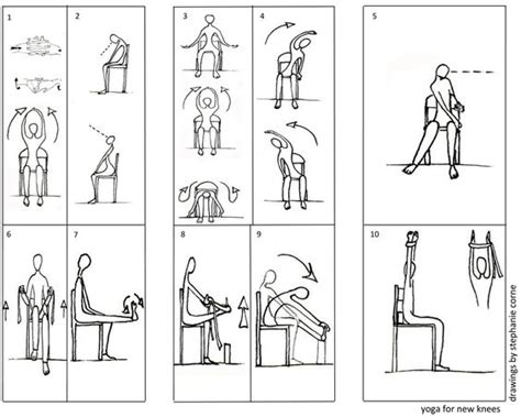 printable chair yoga poses for seniors chair yoga exercises knees laura staton yoga pinterest
