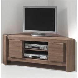meuble tv d angle acacia massi achat vente meuble tv