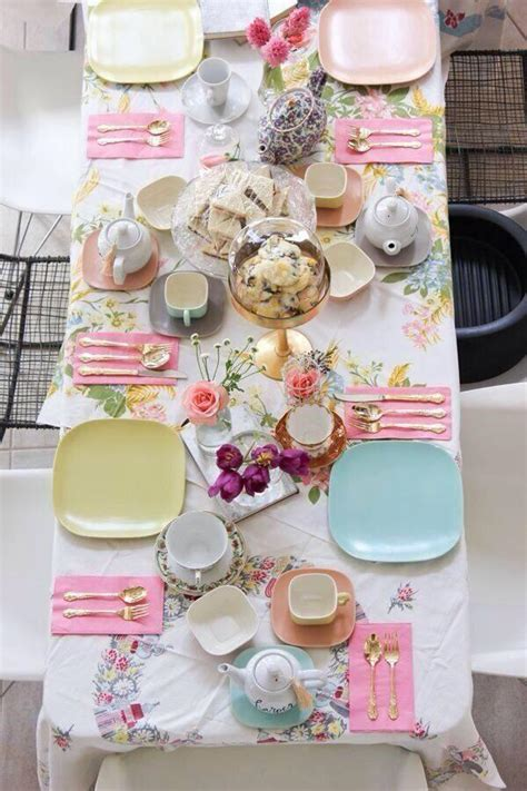 purple kitchen tea ideas quicua com great table setting and i love the plates and silverware