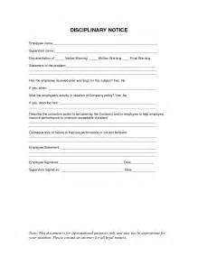 Company Write Up Template by 10 Best Images Of Disciplinary Notice Template Employee