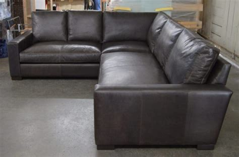 Braxton Sectional Sofa Braxton Mini Leather L Sectional Sofa In Italian Berkshire Anthracite Right Arm Facing The