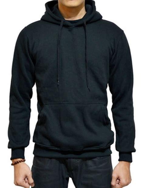 Jaket Sweater Hoodie Jumper Polos Cotton Fleece Premium Hitam jual jaket sweater polos hoodie jumper hitam di lapak phdream store putrahabibi