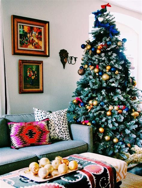 christmas tree decorating ideas girly pink and blue