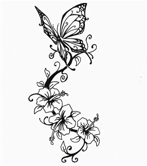 disegni fiori tatuaggi foto disegno tatuaggio fiori e farfalla