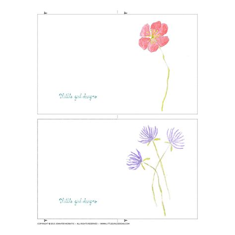 printable flowers for cards watercolor flower mini cards printable jennie moraitis