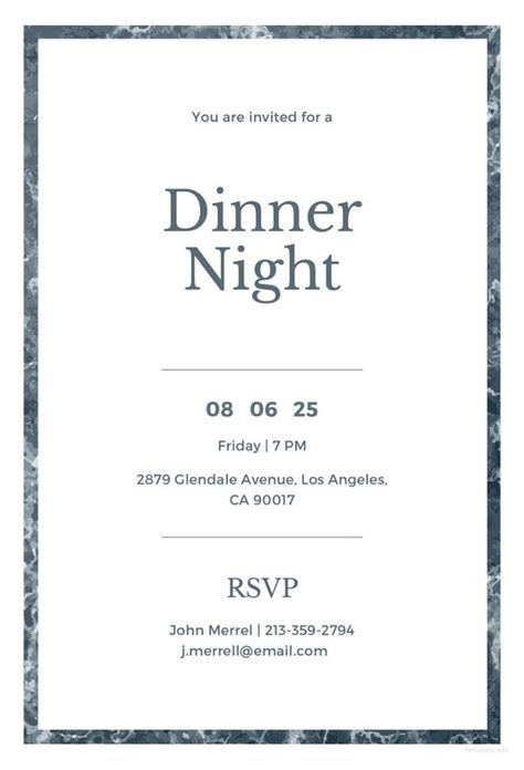 dinner invitation card template free 40 dinner invitation templates free sle exle