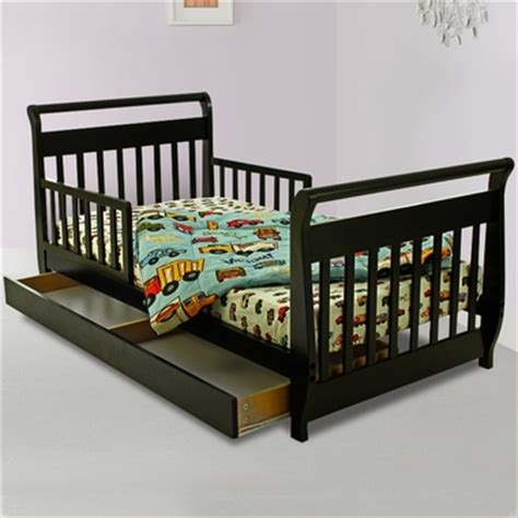 toddler bed with trundle dream on me sleigh toddler bed with trundle in black free shipping