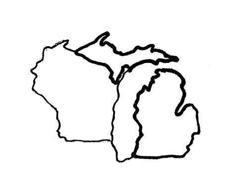 template of michigan michigan map outline afputra