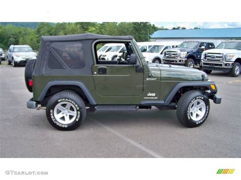 jeep sport green jeep green metallic 2006 jeep wrangler sport 4x4 exterior