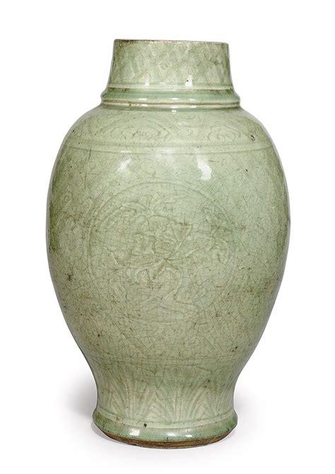 Celadon Vase Ming Dynasty by A Celadon Vase Ming Dynasty 1368 1644 Christie S