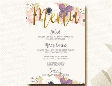 bridal shower supper menu 21 exles of wedding menus
