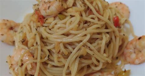 resep aglio olio enak  sederhana cookpad