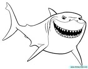 nemo shark coloring pages