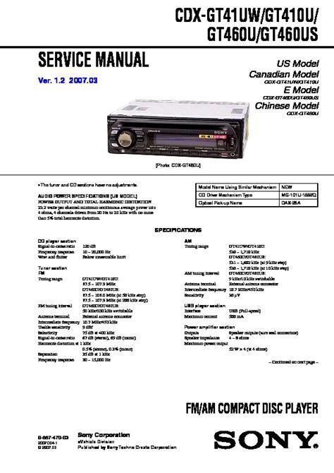 sony cdx gt420u wiring diagram 30 wiring diagram images