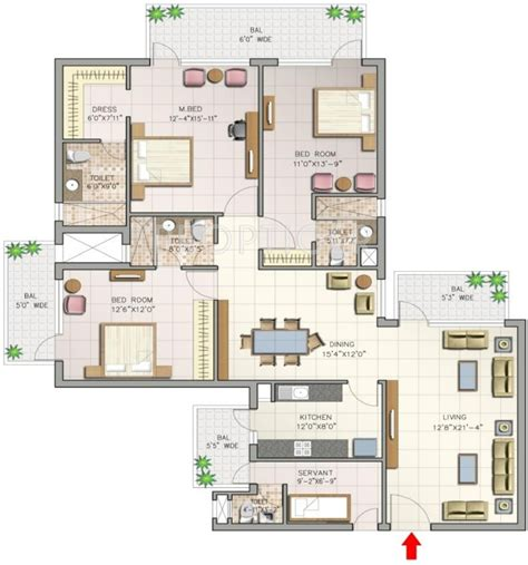 2300 sq ft 3 bhk 4t apartment for sale in corona optus