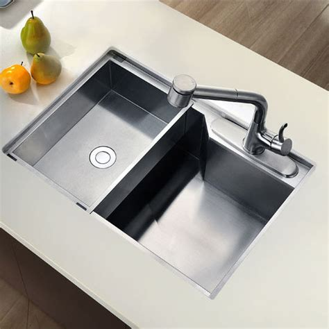 Square Sinks Kitchen Sinks Undermount Square Single Bowl Kitchen Sink 18 Satin 26 3 8 W X 18 7 8 Quot D X 9