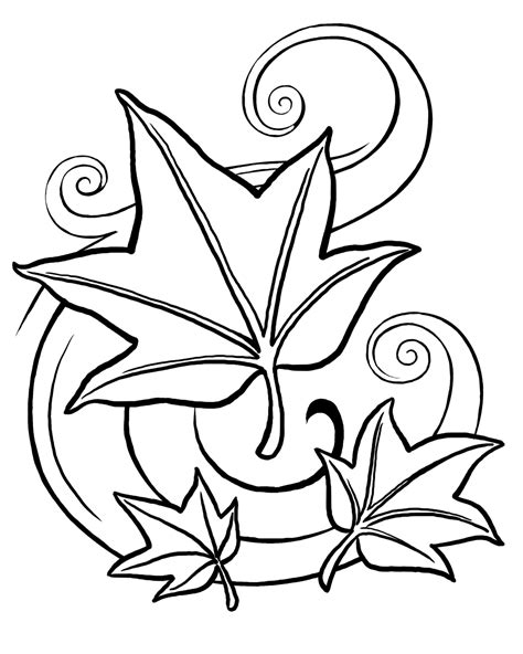 Fall Leaves Coloring Page free coloring pages of autumn leaf