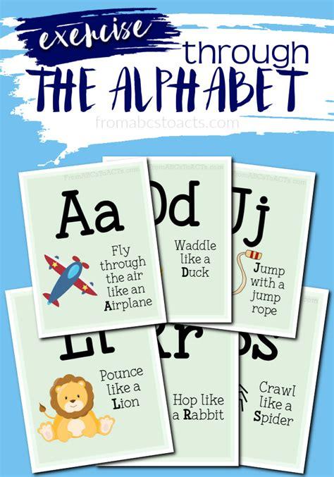 printable alphabet movement cards gross motor activity alphabet cards lesson plans