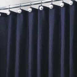 Shower Curtains Navy Blue York Fabric Shower Curtain Navy Blue In Shower Curtains And Rings