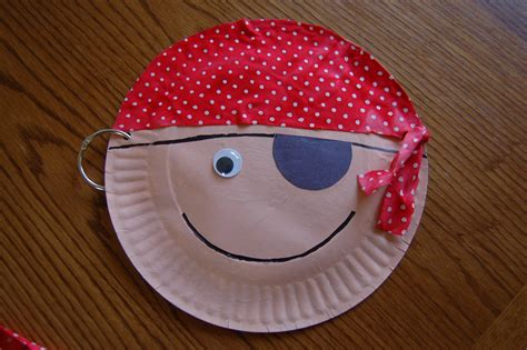Craft With Paper Plate - preschool crafts for pirate paper plate craft