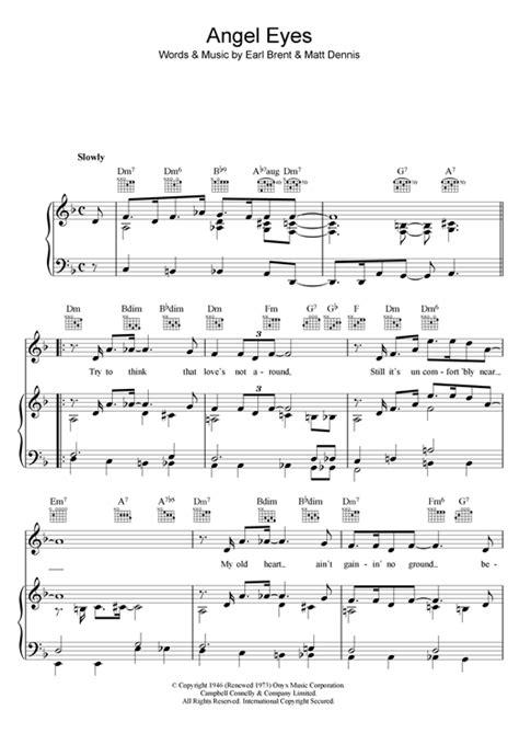 theme song in angel eyes frank sinatra angel eyes sheet music