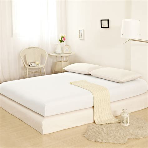 100 Cotton Mattress Cover by Home Textile 1pcs Fitted Sheet Solid Color Bed Sheet 100 Cotton Bed Covers King