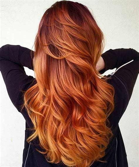 copper red ombre hair balayage 732 best hair images on pinterest hairstyles diy and braids