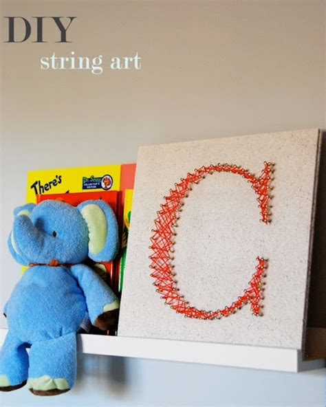 diy string projects diy string diy string initials and wall crafts