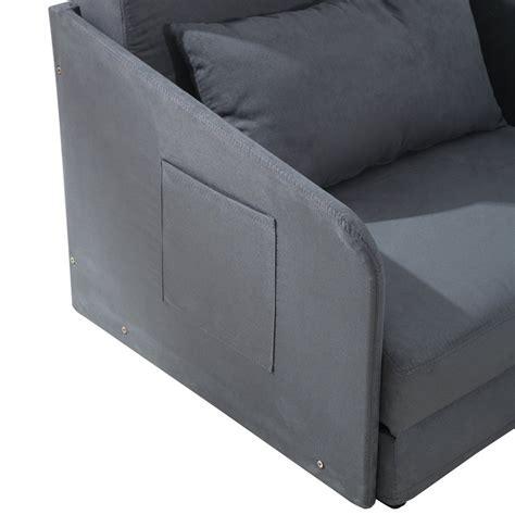 cushion chair bed homcom single chair bed grey futon cushion lounger set