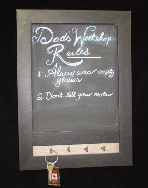 Chalkboard With Hooks For Kitchen by Rustic Framed Chalkboard With Decorative Hooks