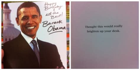 Obama Birthday Card by President Obama Happy Birthday Card