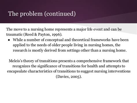 meleis s theory of transitions and nursing home entry