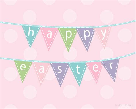 Printable Easter Banner | make it create by lillyashley freebie downloads easter