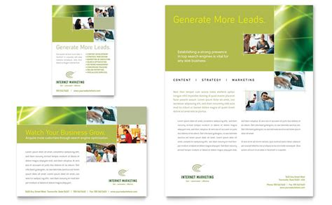 internet marketing flyer ad template word publisher