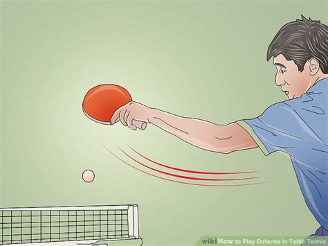 how to play table tennis how to play defense in table tennis 10 steps with pictures