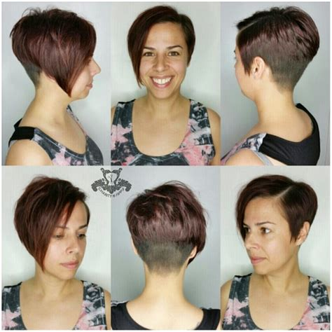 asymetrical ans stacked hairstyles asymmetric stacked pixie haircut