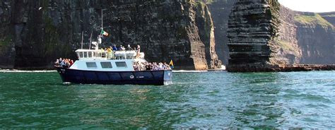 boat trip to ireland cliffs of moher cruises boat tours clare ireland