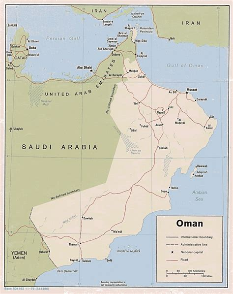 oman political map detailed road and political map of oman oman detailed