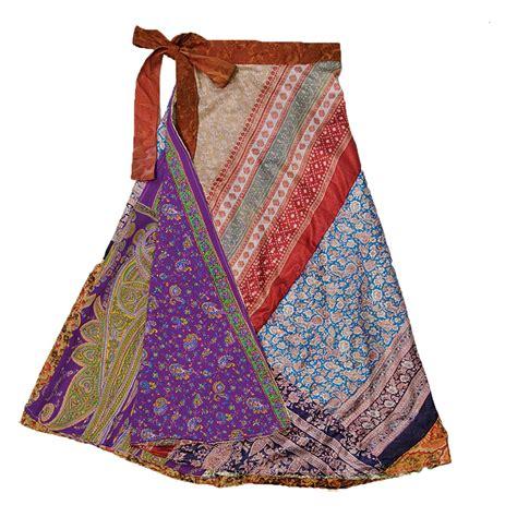 3 4 length reversible patchwork silk sari skirt dn20 3 4 length reversible patchwork silk sari skirt dn20