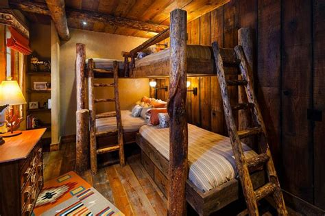 cedar log bunk bed by robert r norman and woodzy org i m loving the multiple bunks all the grandkids in one