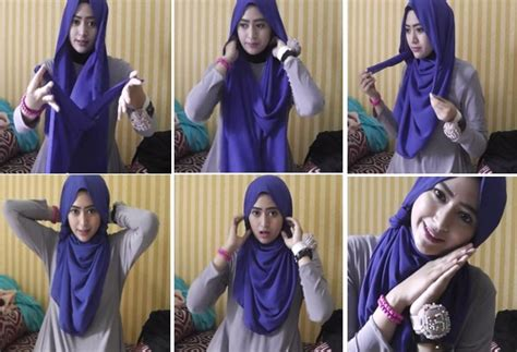tutorial hijab gambar natasha farani kreasi hijab modern terbaru style natasha farani
