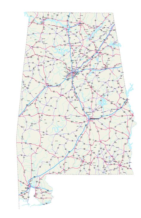 road map of alabama alabama county map with highways pictures to pin on