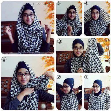 tutorial pashmina kaku tutorial jilbab monokrom cara memakai jilbab segi empat modern