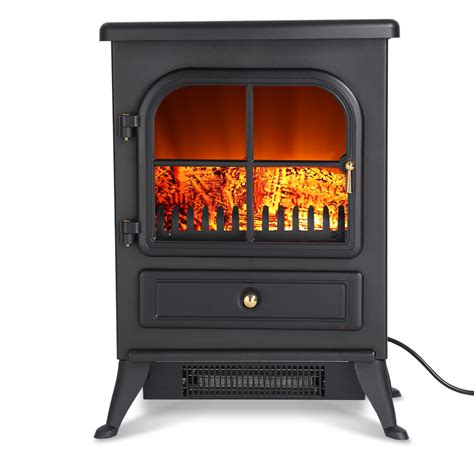 Portable Electric Fireplace 1800w Freestanding Portable Electric Fireplace Stove Heater With Openable Door Ebay