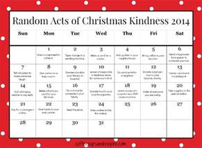 random acts of kindness template acts of kindness advent calendar 2015 calendar template 2016