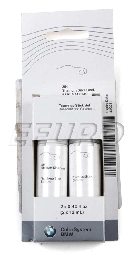 51910419745 genuine bmw touch up paint code 354 titanium silver free shipping available