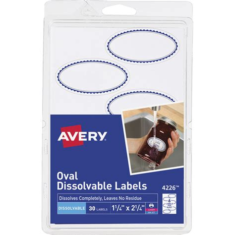 printable dissolvable labels avery oval dissolvable labels 1 1 8 x 2 1 4 inches white