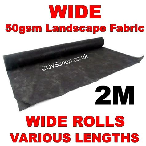Landscape Fabric Wide Mulch Fabric 50gsm For Bark Gravel And Garden Design