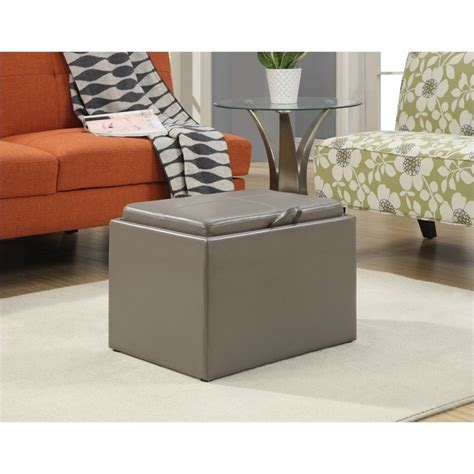 Accent Ottoman With Storage Accent Storage Ottoman Grey 143523gy